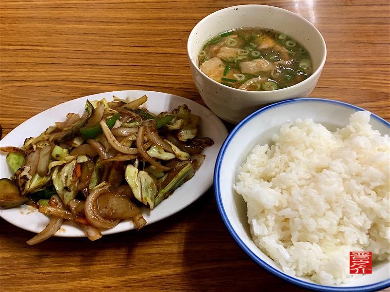 トヨタ屋食堂 野菜炒め