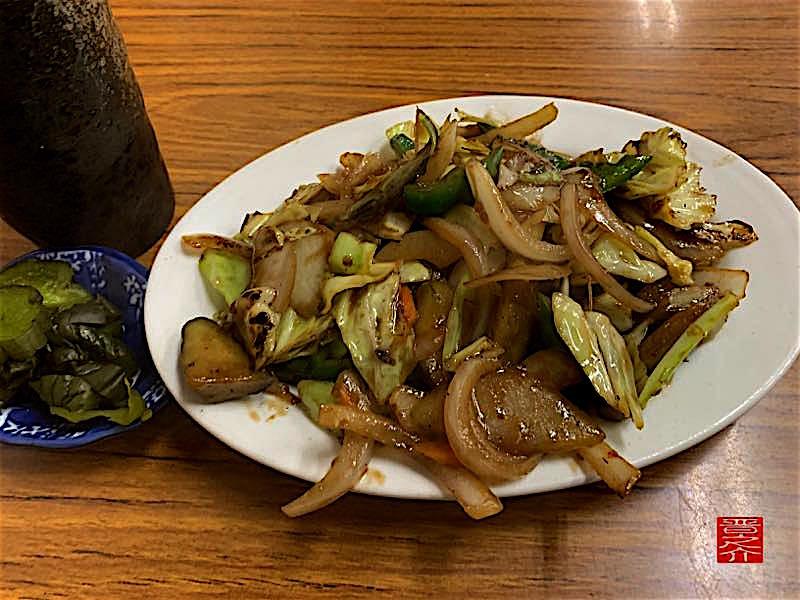 トヨタ屋食堂 野菜炒めアップ