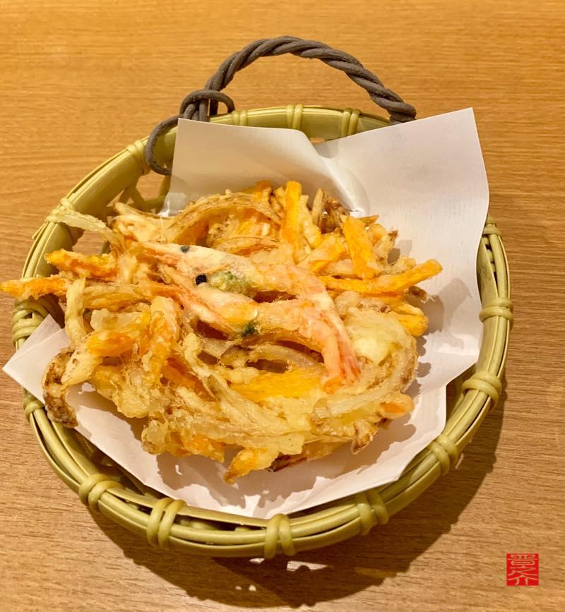 田舎の吉爺の麺処 田吉 かき揚げアップ