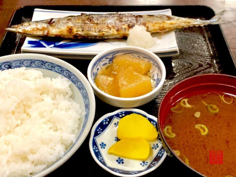 お食事処 千歳 さんま塩焼き定食2