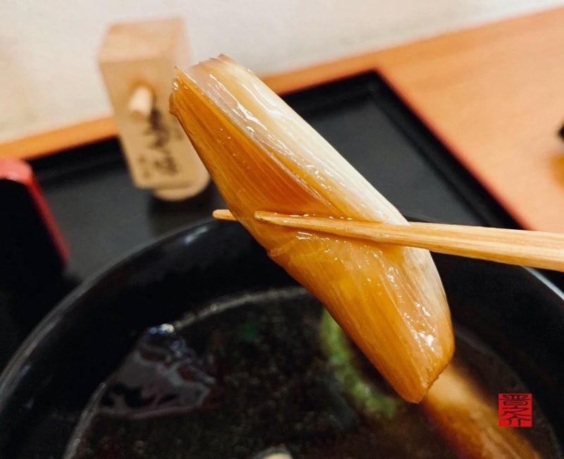 石臼碾き手打ち蕎麦 鴨せいろの葱