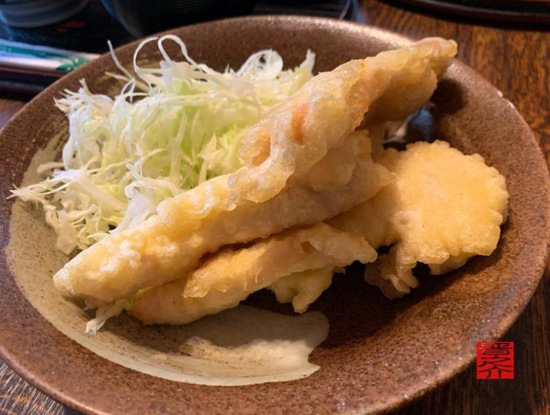 お食事みち草亭とり天ぷら