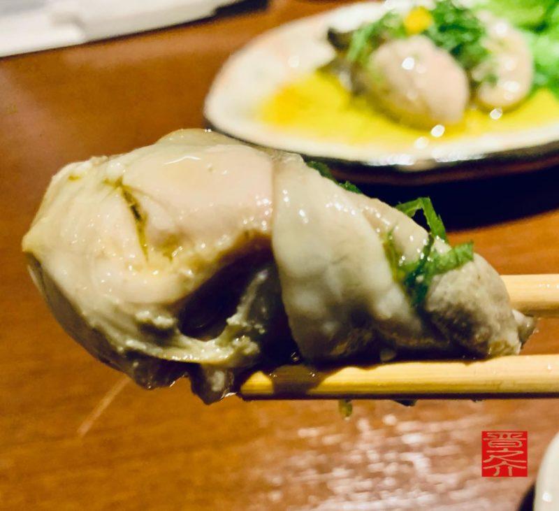 蕎麦切りさとう牡蠣アップ