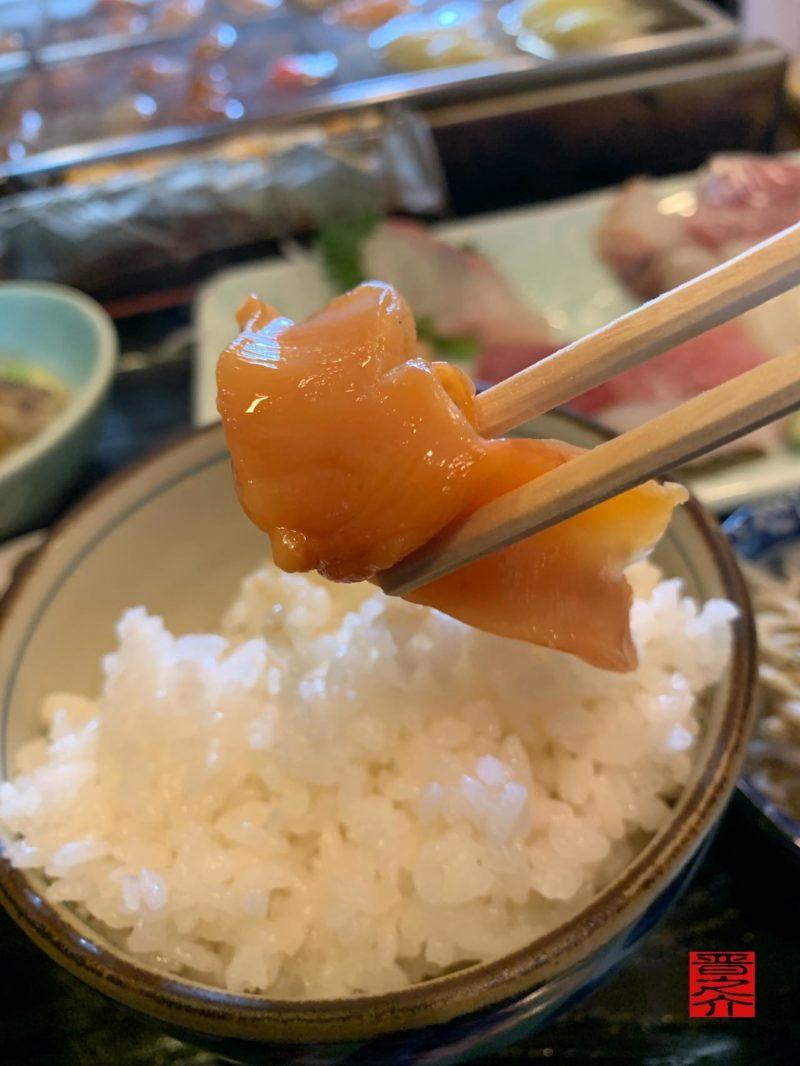 みついと刺身定食赤貝