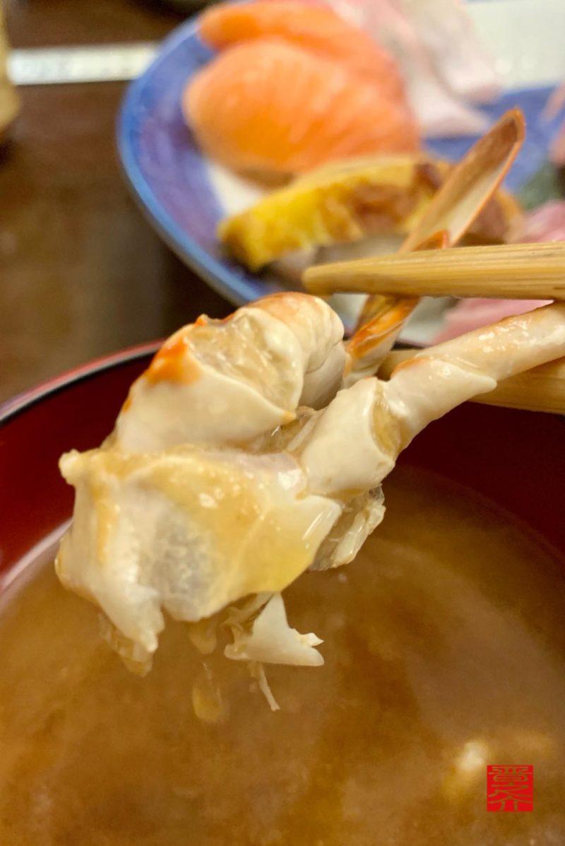 寿司むさし蟹汁