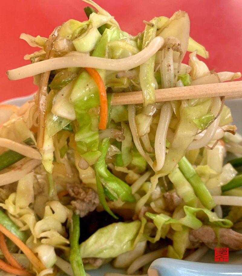 中華料理テンハオ野菜炒めアップ