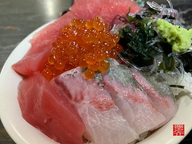魚市場食堂平の屋三色丼2