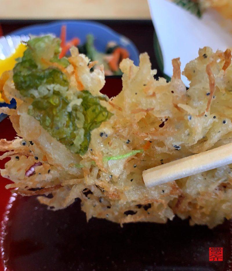 雑魚と野菜のかき揚げ