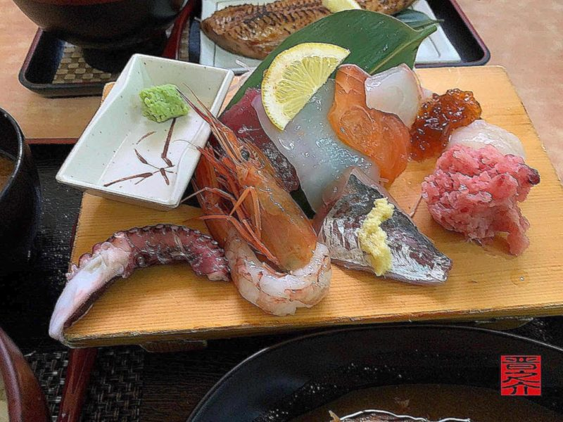 海鮮・煮魚ランチ刺身