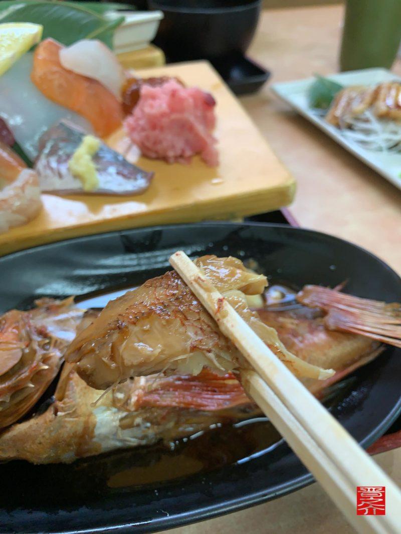 海鮮・煮魚ランチキンメ2