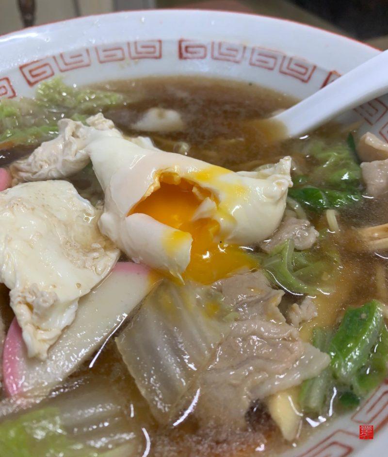 アマノ食堂五目ラーメン玉子