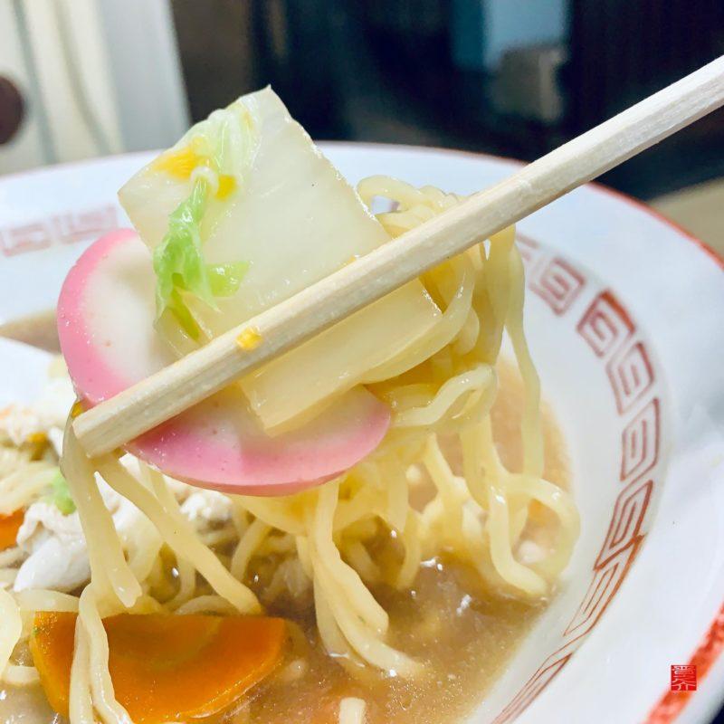 アマノ食堂五目ラーメン野菜アップ